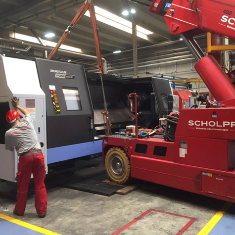 Relocation of a machining center to Turkey